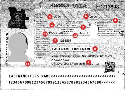 View samples of travel visas visacentral switzerland get a visa for travel to angola altavistaventures Gallery