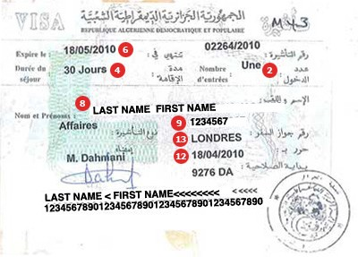 View samples of travel visas visacentral switzerland algeria visa thecheapjerseys Choice Image